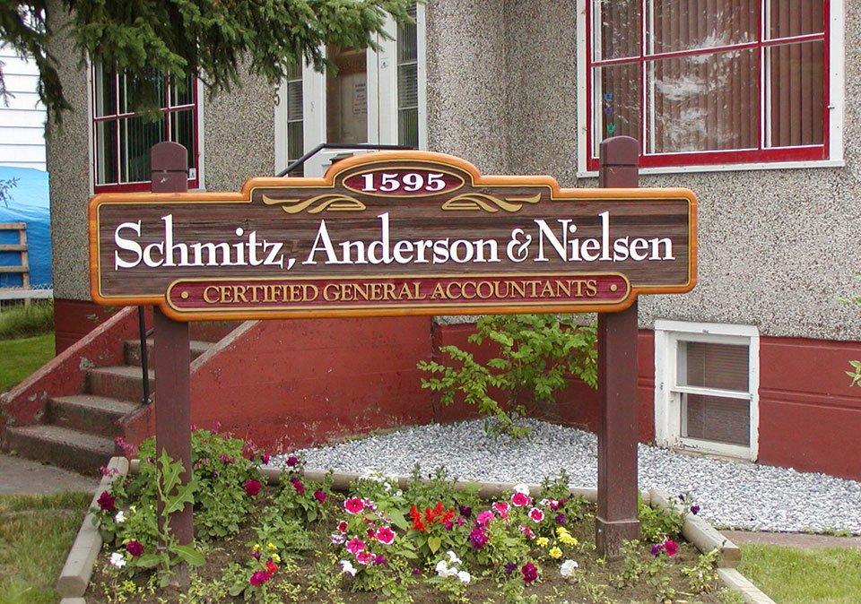 Sandblasted Signs - Schmitz, Anderson & Nielsen