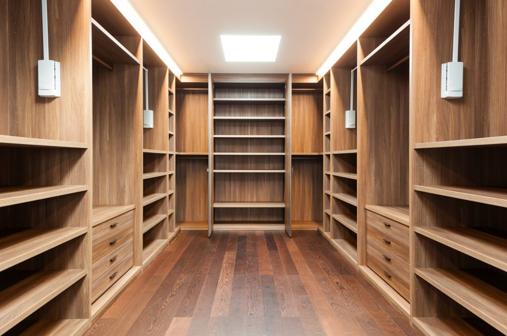 Perfect Fit Closets Custom Wide Wooden Dressing Room Storage