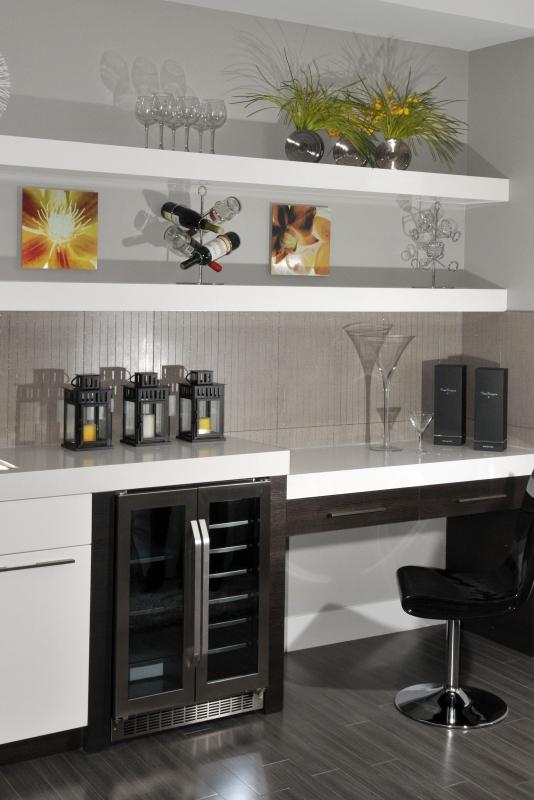 Perfect Fit Closets Custom Bar Storage and Organization