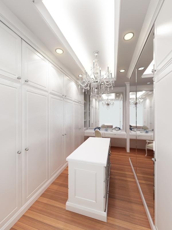 Perfect Fit Closets Custom White Dressing Room